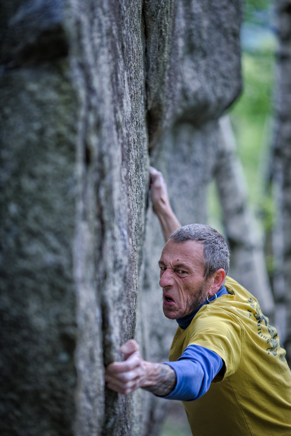 Facial expression | Stefan Kuerzi - Climbing Photography