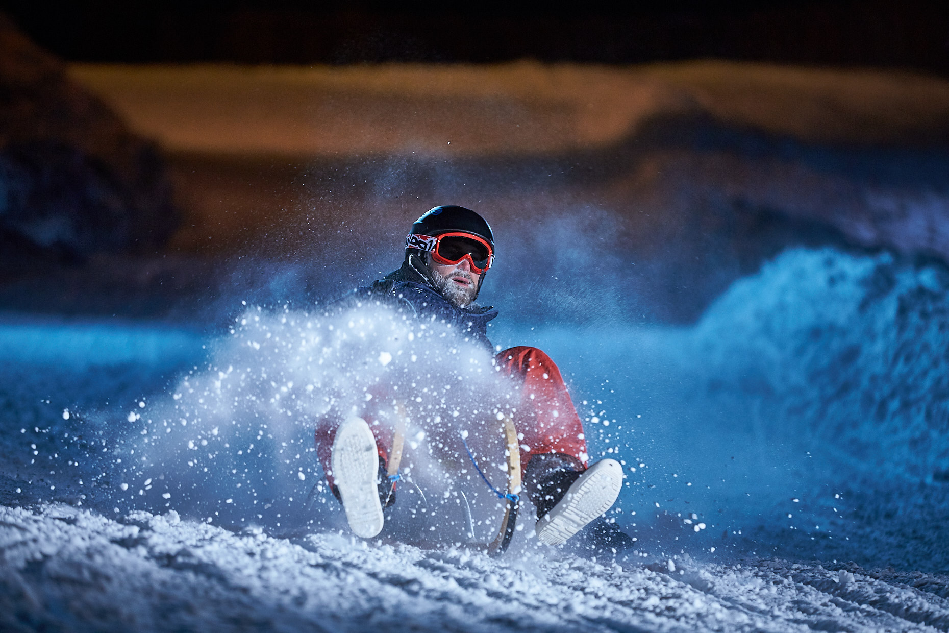 Night sledding | Stefan Kuerzi Tourism Photography